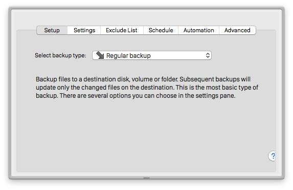 BackupList+ for Mac