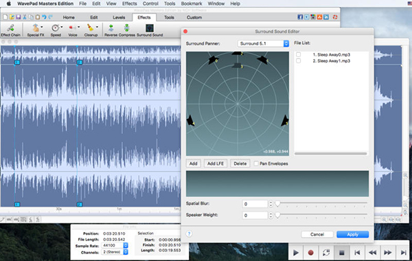 Wavepad Audio Editor Mac版